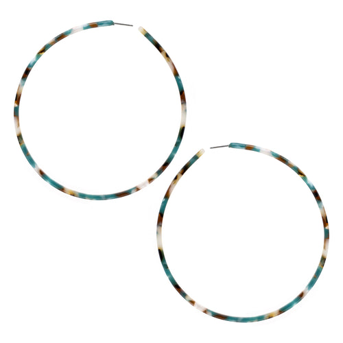 Over Sized Acetate Skinny Hoop Earrings