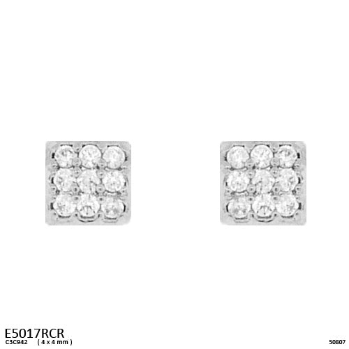 Cubic Zirconia Brass Studs Earrings