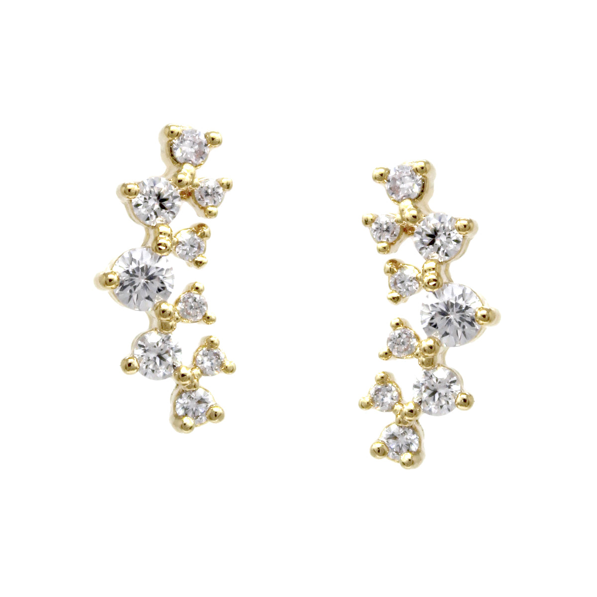 Cubic Zirconia Pave Stud Earrings