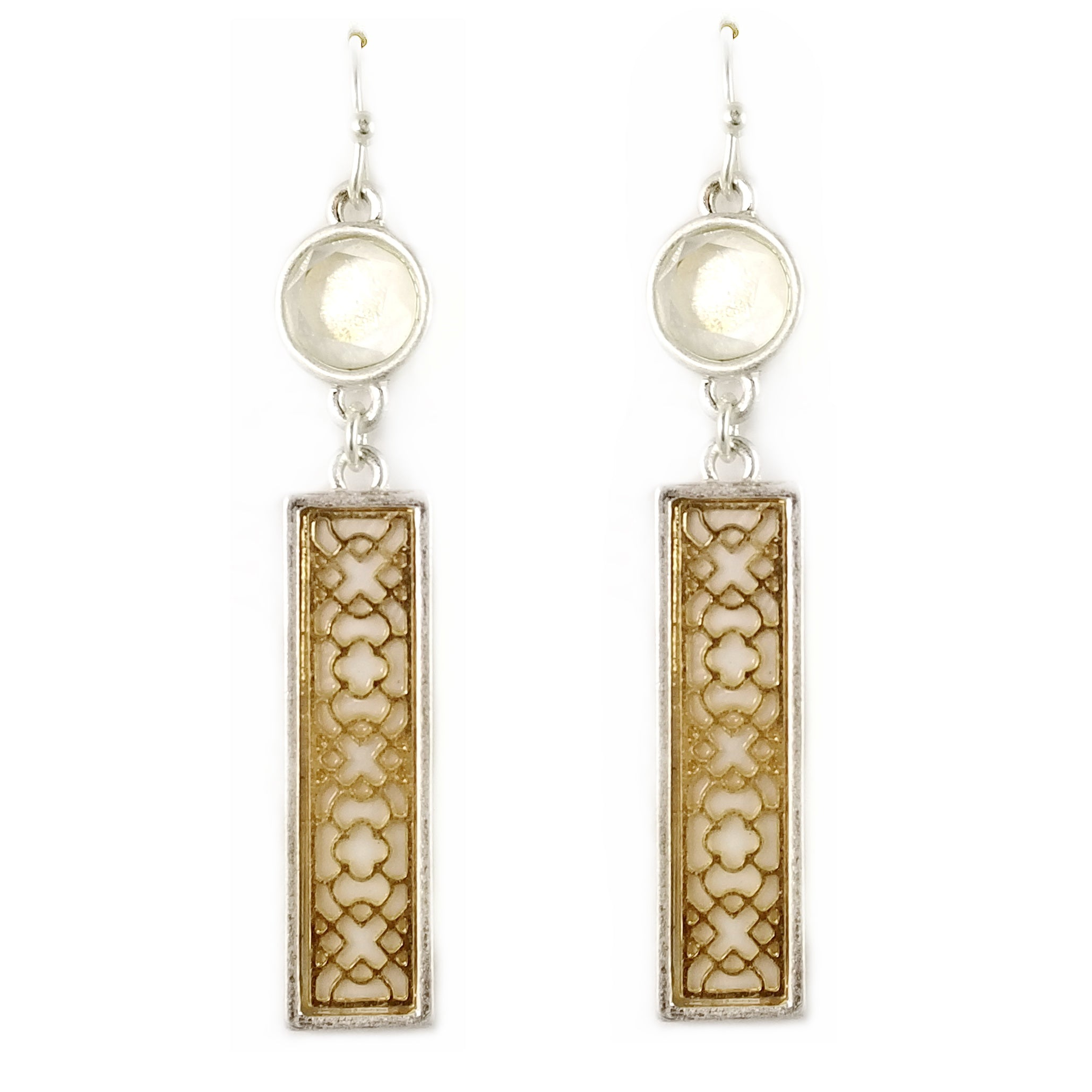 filigree popesco lace crystal earrings lv catherine french gold red