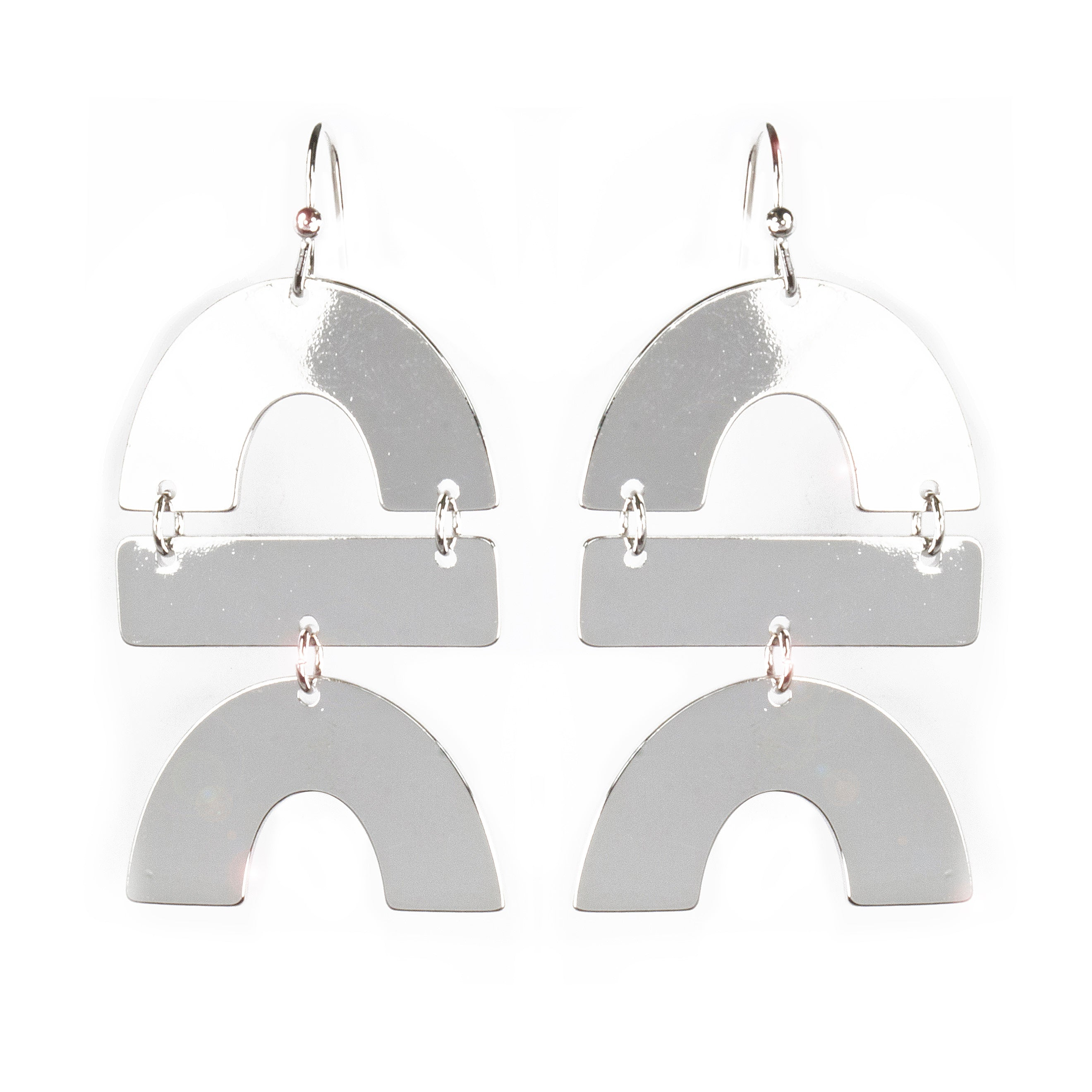 Urban Geometric Arch Drop Earrings