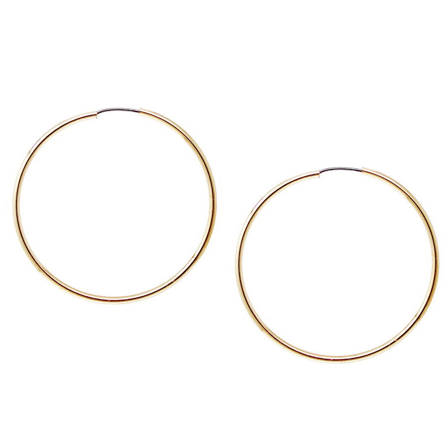 Skinny Endless Hoop Earrings (50 mm)