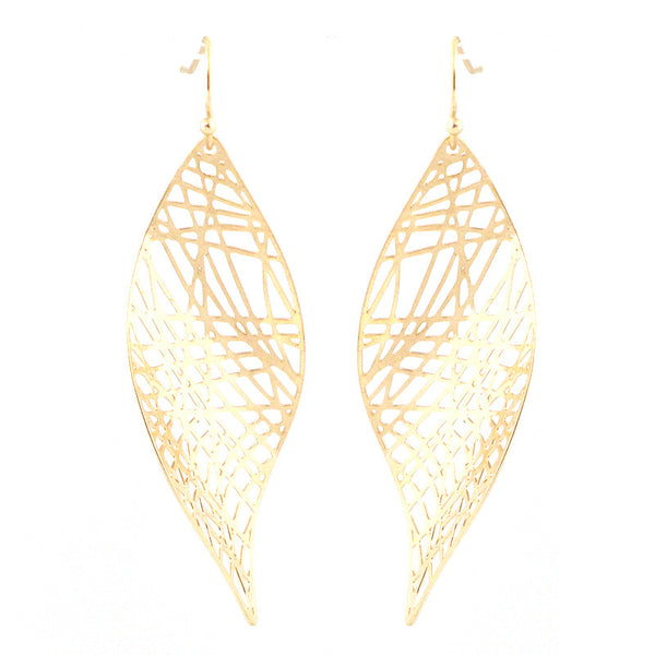 Bohemian Perforated Curve Earrings