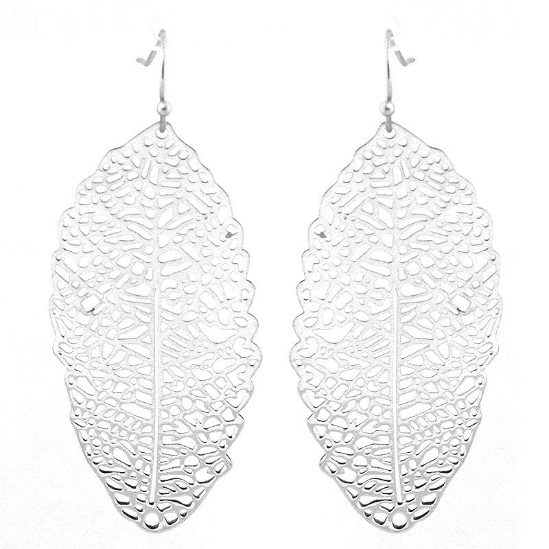 Leaf Lightweight Filigree Earrings