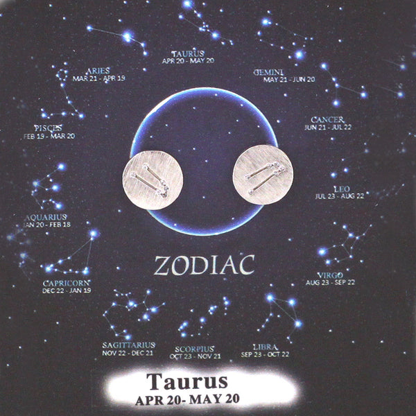 Taurus Zodiac Sign Horoscope Ear Studs