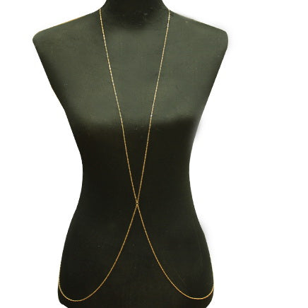 Simple Twisted Chain X Shape Body Chain