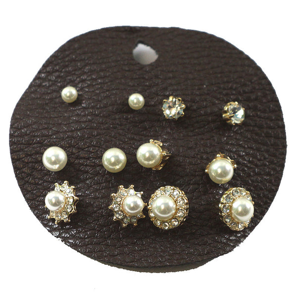 Multi Ear Studs on Leather Card