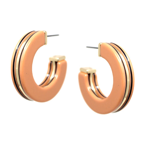 Double Sided Acetate Hoop Earrings
