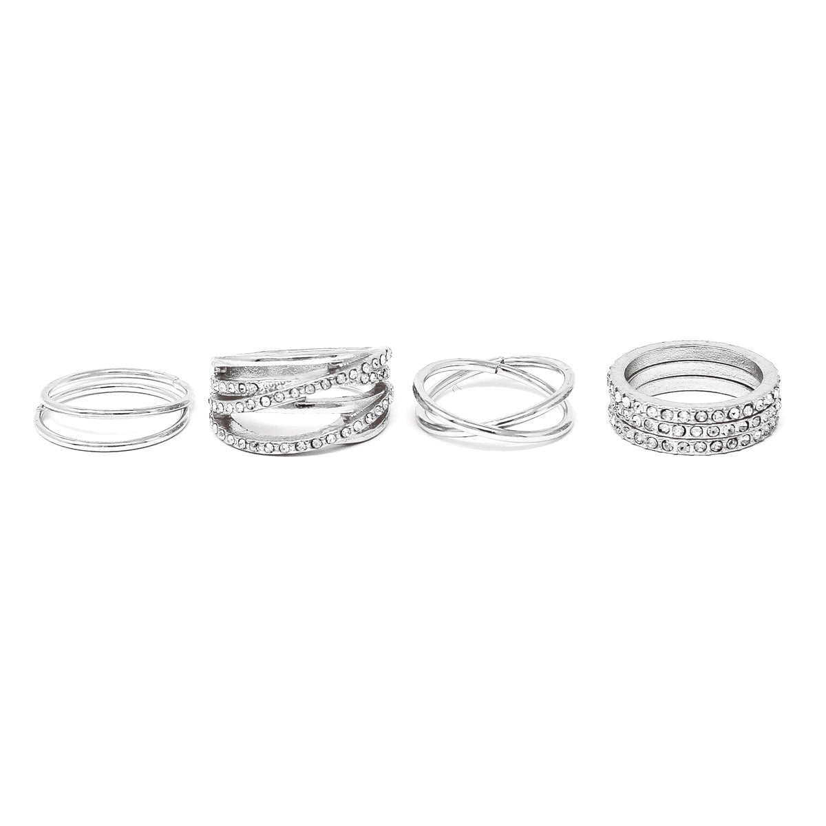 Crisscross Multi Ring Set