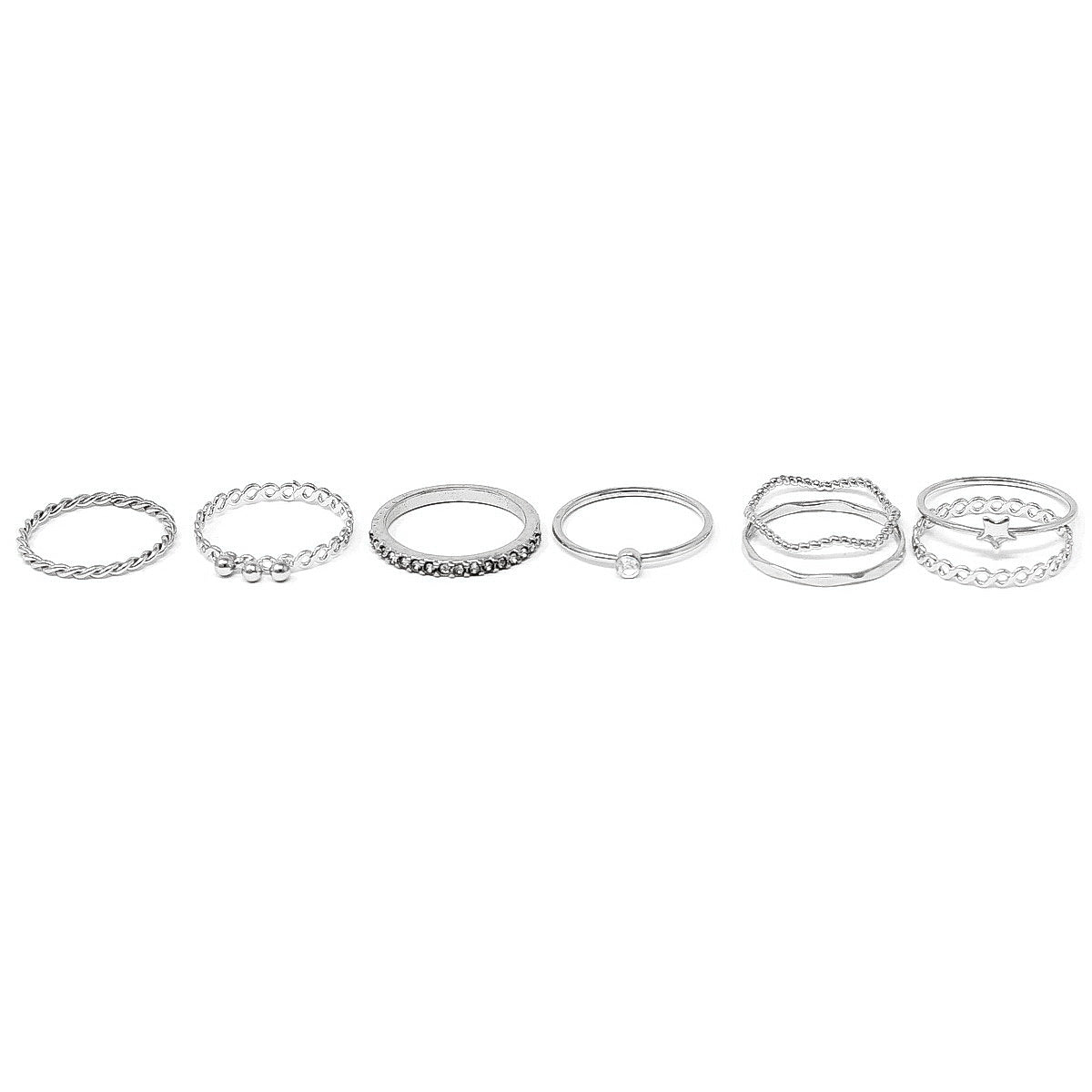 Assorted Stacking Ring Set