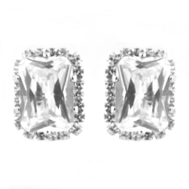 Cubic Zirconia Bridal Studs Earrings