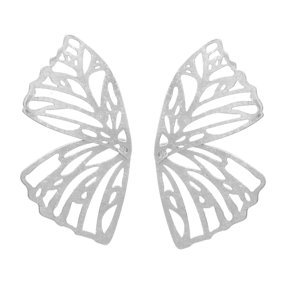 Butterfly Cutout Metal Stud Earrings