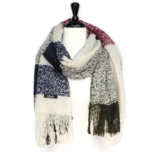 Soft Checked Oblong Scarf