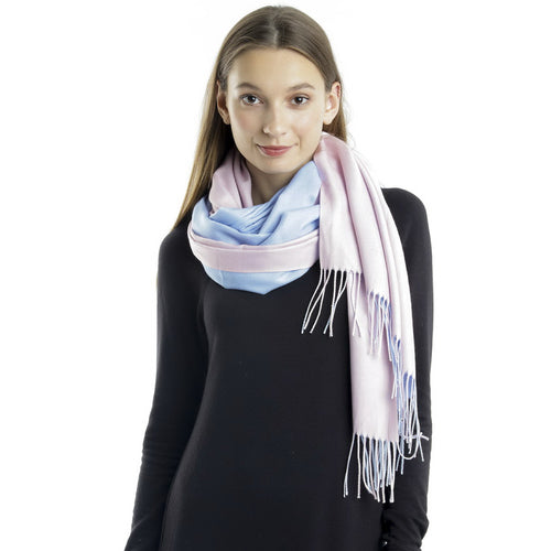 CLOIE Two-Tone Reversible Cashmere & Wool Blend Scarf