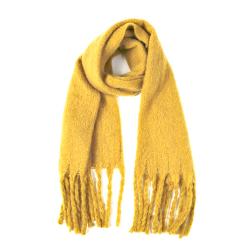 Super Soft Oblong Scarf With Fringe