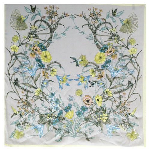 PRE-ORDER Flower Field Print Square Scarf