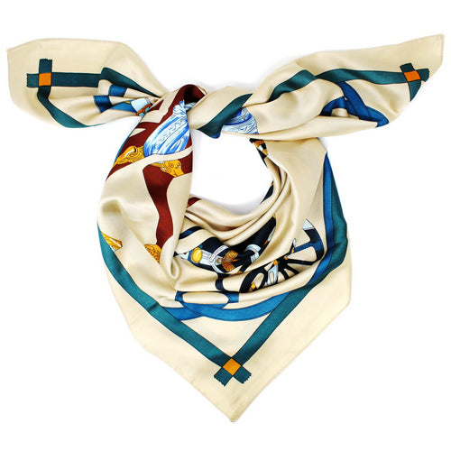 Abstract Horse Print Square Scarf