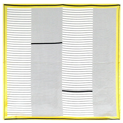Geometric Stripe Square Scarf