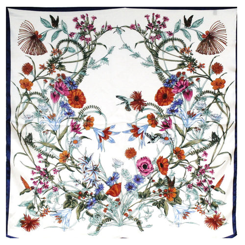 Flower Field Print Square Scarf