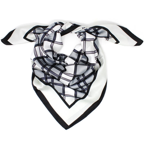 Check Print Square Scarf