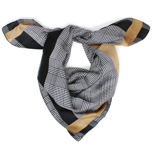 Checked Square Scarf