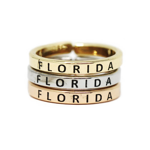 FLORIDA Inspirational Tri Tone Ring Set