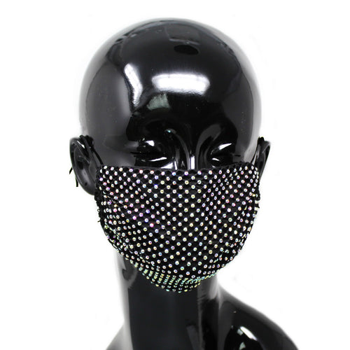Rhinestone Mesh Cotton Fashion Mask