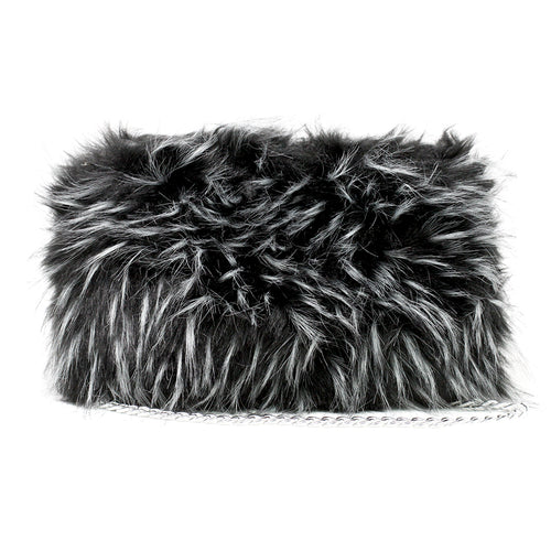 Solid Color Faux Fur Clutch Bag