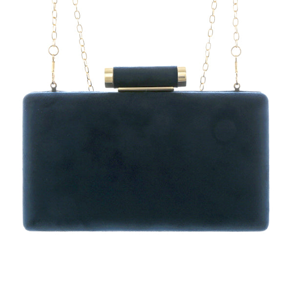 Modern Faux Suede Clutch Bag
