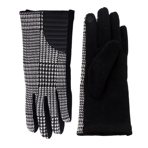 Abstract Print Touch Screen Gloves