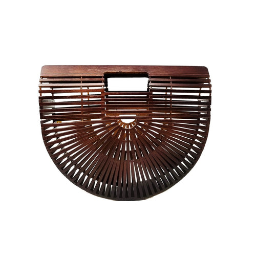 Natural Bamboo Ark Handbag (Small)