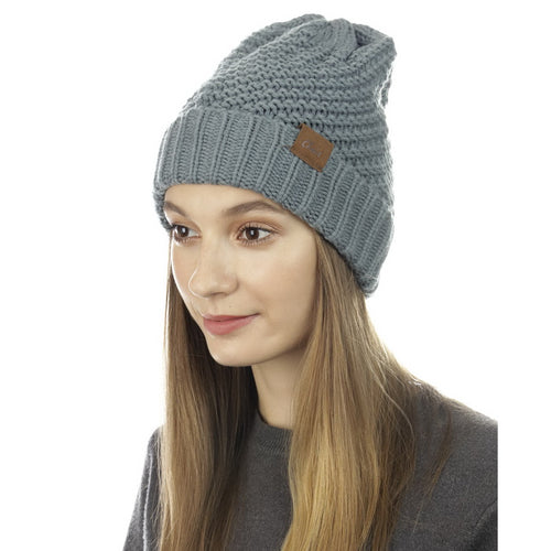CLOIE Double Pique Knitted Soft Stretch Beanie