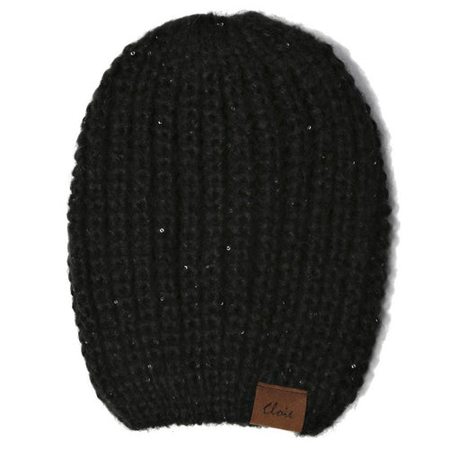 Sequin Embellished Knitted Beanie