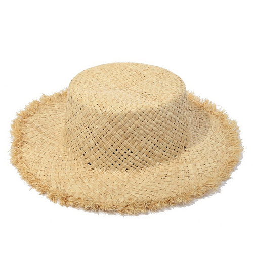 PRE-ORDER Fringed Edge Straw Boater Hat