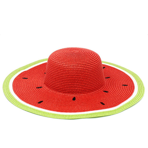 Watermelon Straw Floppy Hat
