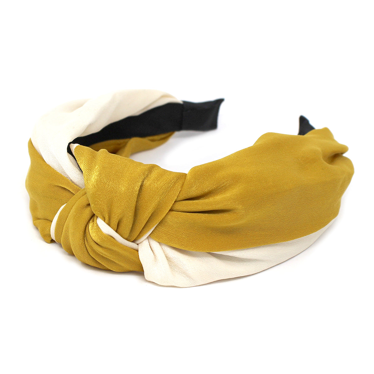 Front Knot Detail Two-Tone Satin Headband