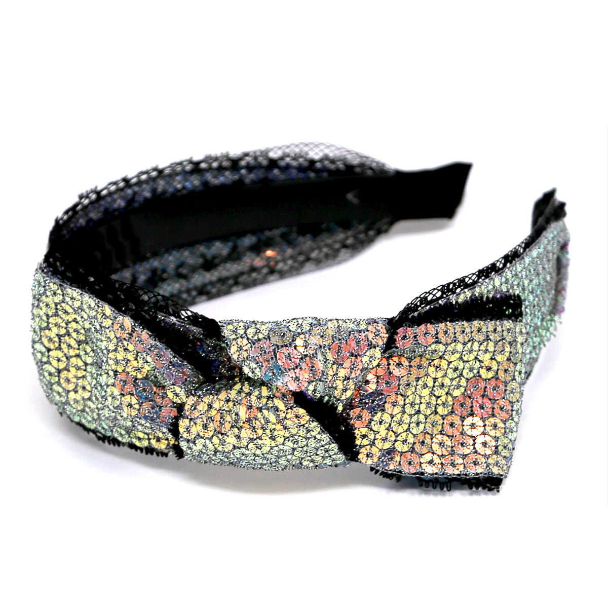 Side Bow Detail Sequin Headband