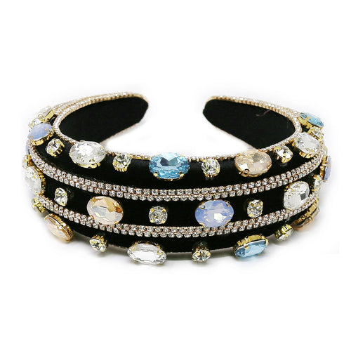 Glass Stone Embellished Padded Headband