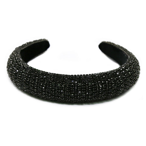 Rhinestone Embellished Padded Headband