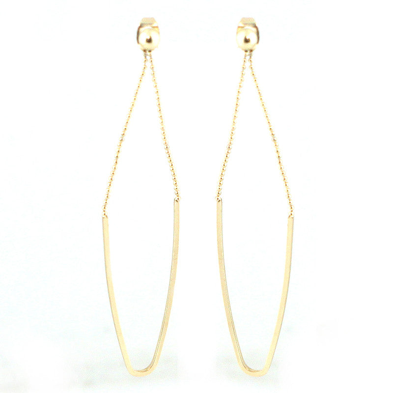 Ball Chain Geometric Shape Earrings