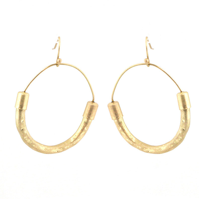 Metal Hoop Tribal Earrings