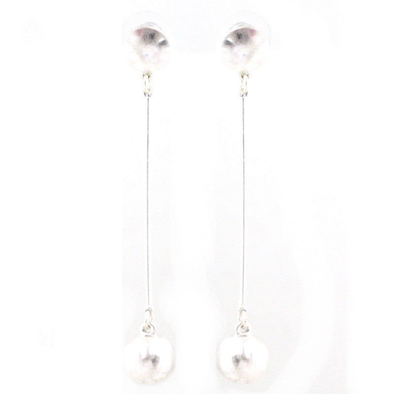 Ball Charm Bar Drop Earrings