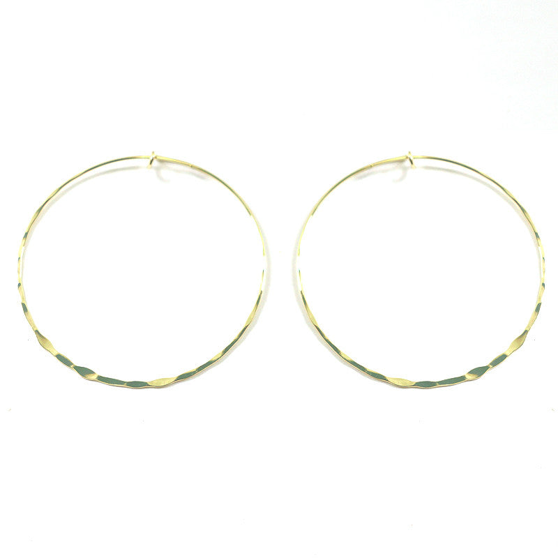 Hammered Thin Hoop Earrings
