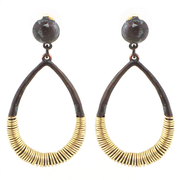 Teardrop Wired Tribal Earrings