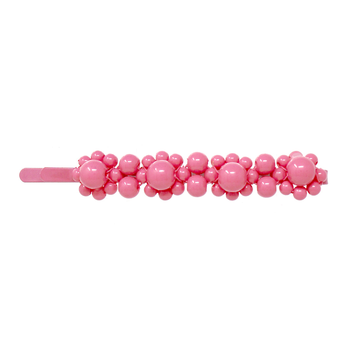 Color Coated Beaded Flower Bobby Pin