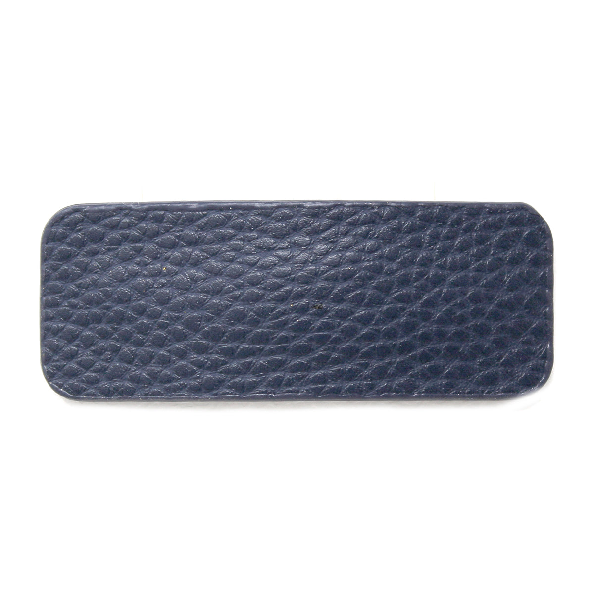 Rectangle Shape Textured Faux Leather Hair Clip
