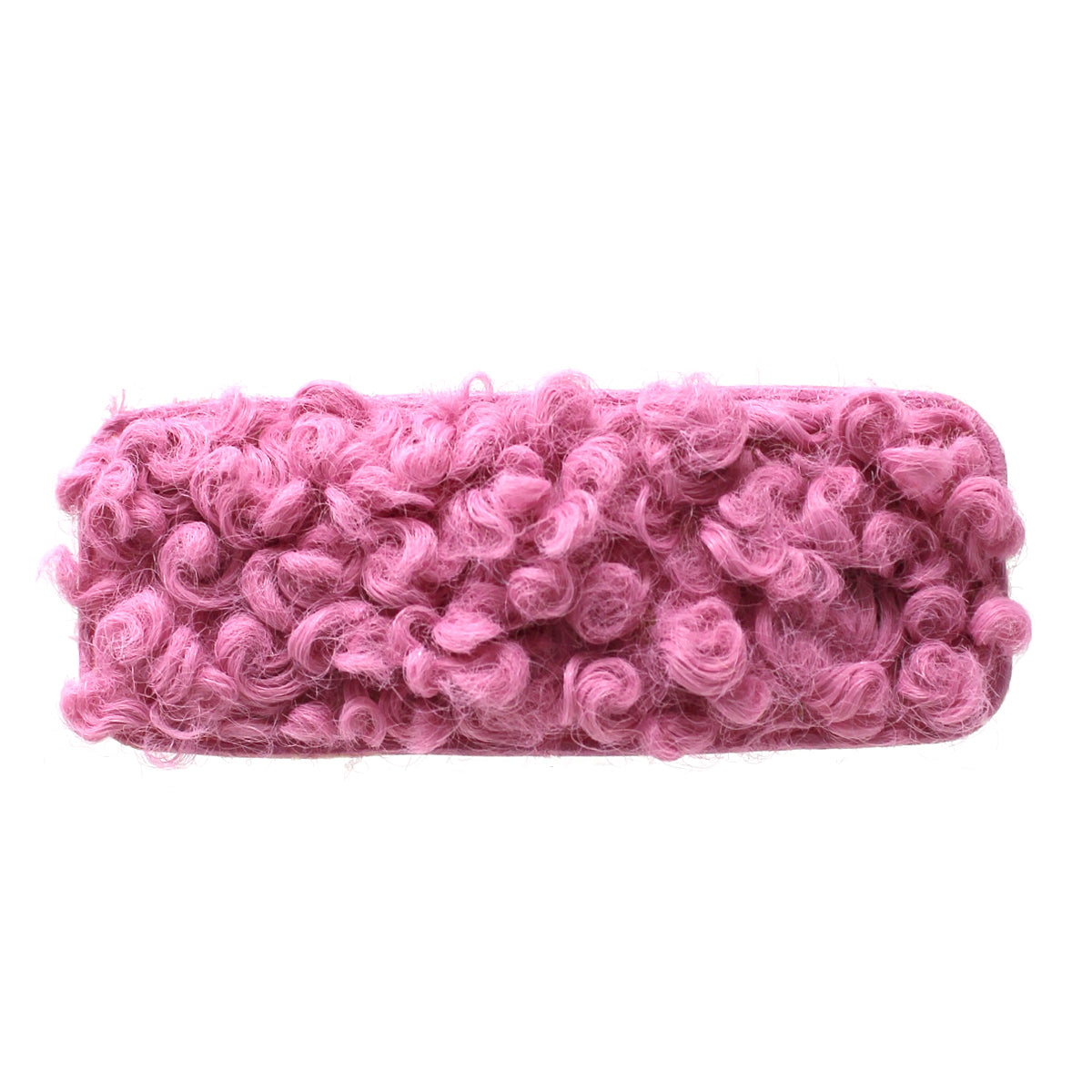 Rectangle Shape Boucle Fabric Hair Clip