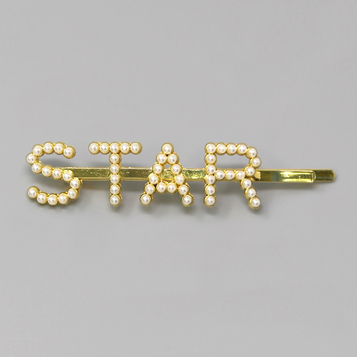 STAR Pearl Bead/ Glass Stone Pave Bobby Pin
