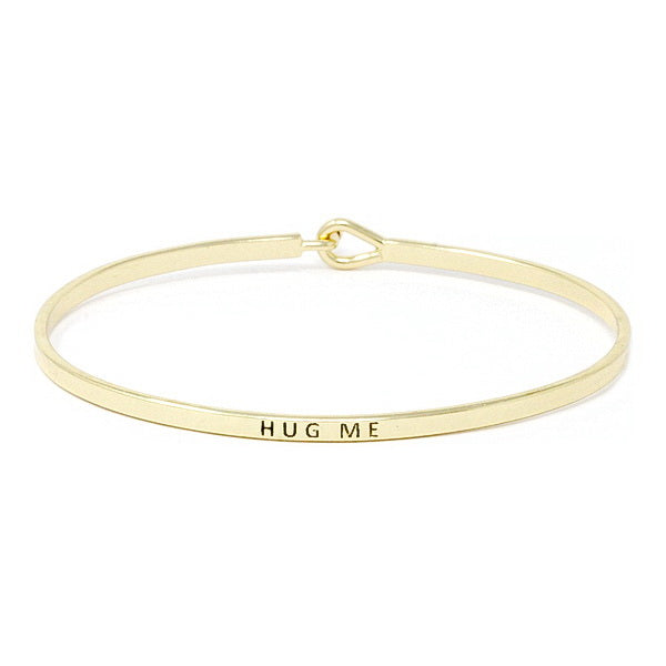 HUG ME Inspirational Message Bracelet