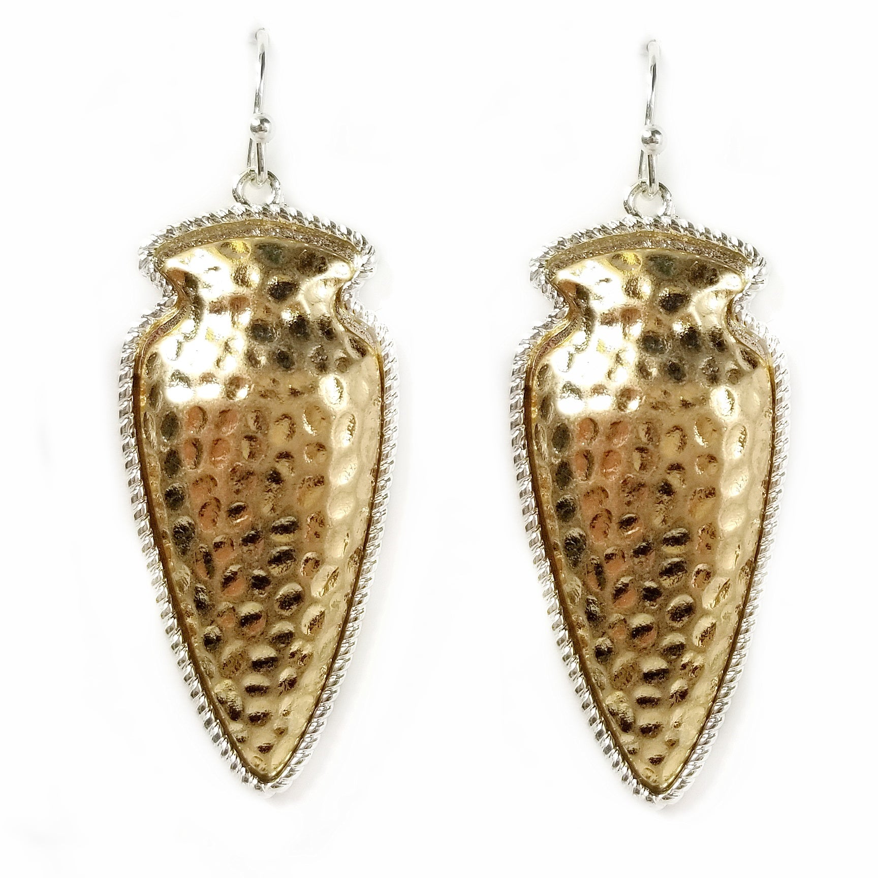 Tribal Hammered Drop Earrings